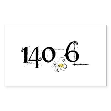 140.6 Daisey Design Sticker (Rectangle)