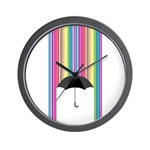 Colored Rain Wall Clock