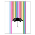Colored Rain Small Poster