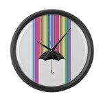 Colored Rain Large Wall Clock