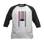 Colored Rain Kids Baseball Jersey