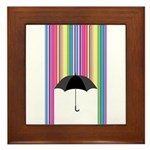 Colored Rain Framed Tile