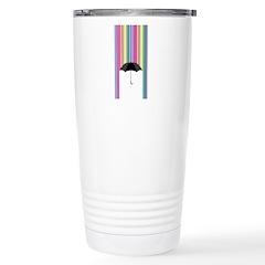 Colored Rain Stainless Steel Travel Mug