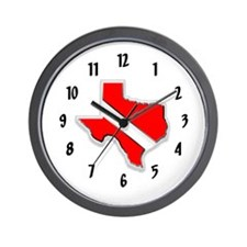 Texas Diver Wall Clock
