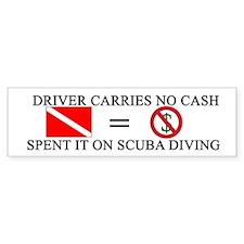 Spent Cash on Scuba (Bumper)