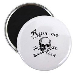 Rum me pirate skull Magnet