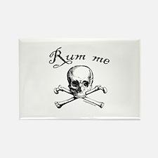 Rum me pirate skull Rectangle Magnet