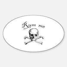 Rum me pirate skull Decal