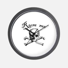 Rum me pirate skull Wall Clock