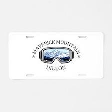Maverick Mountain - Dillo Aluminum License Plate