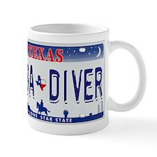 TX_Scuba_Diver_plate Mugs