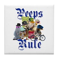 PEEPS RULE Tile Coaster