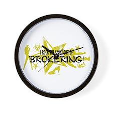 I ROCK THE S#%! - BROKERING Wall Clock