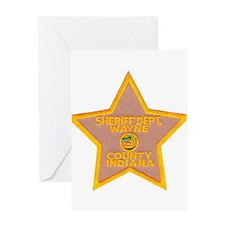 Wayne County Sheriff Greeting Card