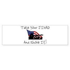 No Jihad Zone Bumper Sticker