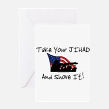 No Jihad Zone Greeting Card