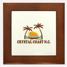 Crystal Coast NC - Palm Trees Design. Framed Tile