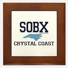 Crystal Coast NC - Map Design Framed Tile