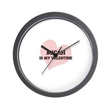 Micah Is My Valentine Wall Clock
