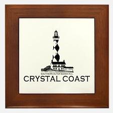 Crystal Coast NC - Lighthouse Design Framed Tile