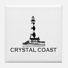 Crystal Coast NC - Lighthouse Design Tile Coaster