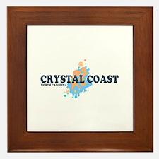 Crystal Coast NC - Seashells Design Framed Tile