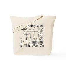 Shakespeare macbeth Tote Bag