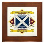30th Arkansas Infantry Framed Tile