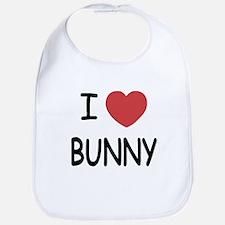 I heart bunny Bib