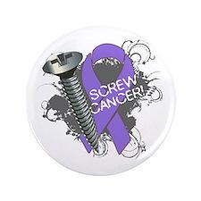 "Screw Hodgkins Lymphoma 3.5"" Button"