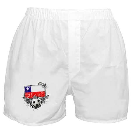Soccer Fan Chile Boxer Shorts