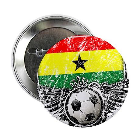 "Soccer Fan Ghana 2.25"" Button (100 pack)"