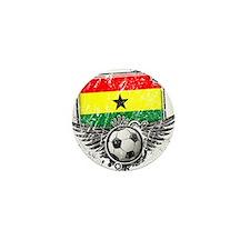 Soccer Fan Ghana Mini Button