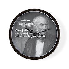 Nature Wordsworth Poetry Wall Clock