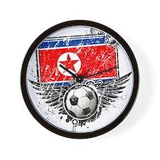 Soccer Fan North Korea Wall Clock