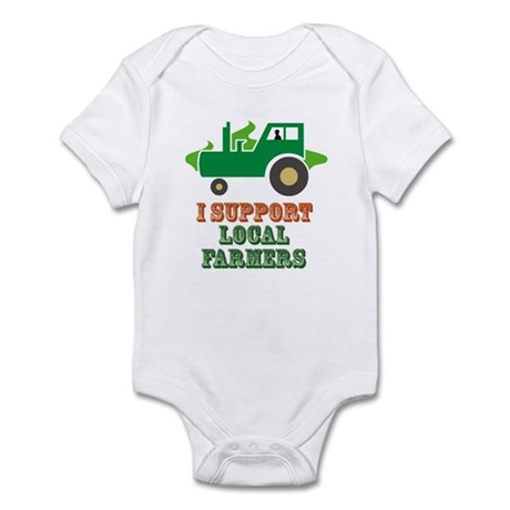 I Support Local Farmers Infant Bodysuit