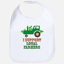 I Support Local Farmers Bib