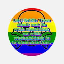 "Leviticus 18:22 3.5"" Button"