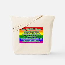 Leviticus 18:22 Tote Bag