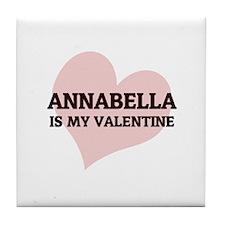 Annabella Is My Valentine Tile Coaster