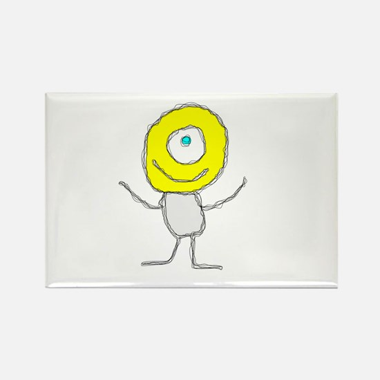 One Eyed Happy Dude Rectangle Magnet