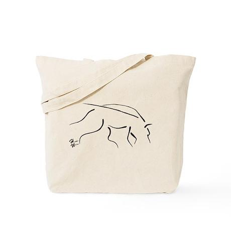 Tracking Dog - black Tote Bag