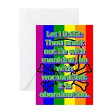 Leviticus 18:22 Greeting Card