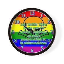 Leviticus 18:22 Wall Clock