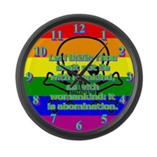 Leviticus 18:22 Large Wall Clock