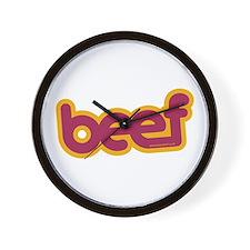 Beef Wall Clock