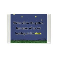 """Looking at the Stars"" Rectangle Magnet"