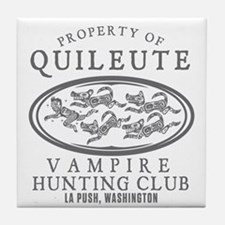 Vampire Hunt Club Tile Coaster