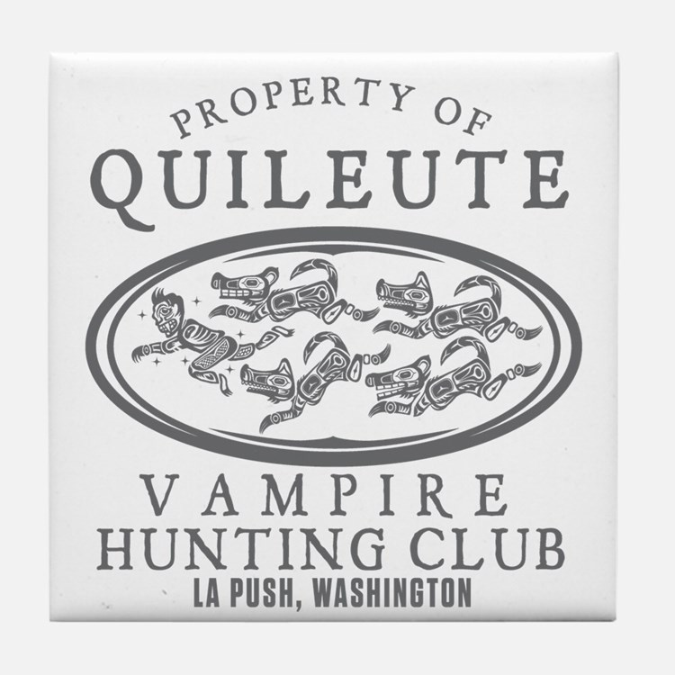 Vampire Hunt Club Tile Coaster