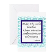 """""""What We Do for Others"""" Greeting Card"""